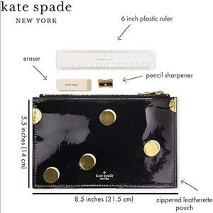 Kate spade Scattered Dot Pencil Pouch Case set